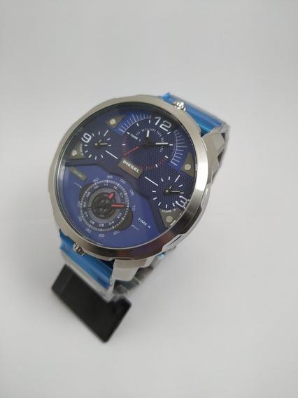 Relógio Pulseira Aço Dz7361 Machinus 55mm