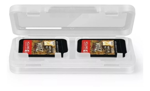 Case Estojo Porta 4 Jogos Cartuchos Para Nintendo Switch Box