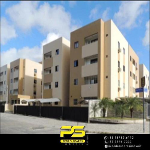 Apartamento Com 3 Dormitórios À Venda, 82 M² Por R$ 200.000,00 - Jardim São Paulo - João Pessoa/pb - Ap3642