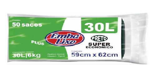 Imagem 1 de 2 de Saco De Lixo Embalixo 30 Litros Super Economico 50 Unidades