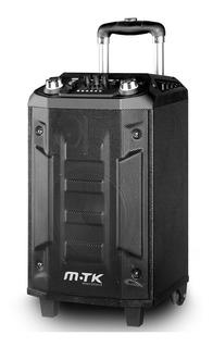 Parlante Portatil Bluetooth Mtk Microfono Carrito Ruedas Usb