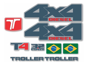 Kit Adesivos Resinado Troller T4 2015 2016 2017 2018 Trl035