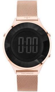 Relógio Feminino Technos Crystal Bj3851af/4p 40mm Aço Rose