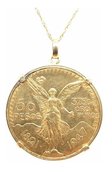 Moneda Mexicano 50 Pesos Oro Más Encamisado (d199)