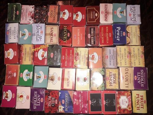 Incienso 6 Cajas Hexagonales Varios Aromas Combo Surtido