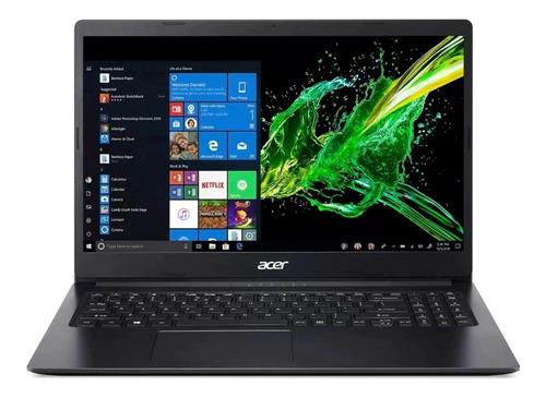 "Notebook Acer Aspire 1 A115-31 negra 15.6"", Intel Celeron N4000  4GB de RAM 64GB SSD, Intel UHD Graphics 600 1366x768px Windows 10 Home"
