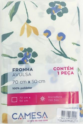 Fronha Estampada 70 X 50 Microfibra Camesa - Floral