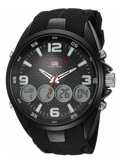 Reloj Us Polo Estilo Deportivo Para Hombres 51mm Original