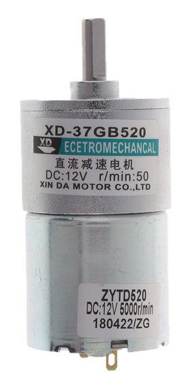 Xd -37gb520 Dc Motor 12v 10w 50 Rpm Engrenagem Motor Cw / Cc