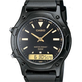 Relógio Casio Masculino Pulseira Borracha Aw-49he-1bvdf