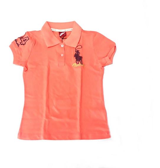 Blusa Camisa Polo Feminina Radade Country Lisa Baby Look