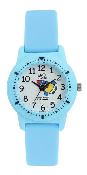 Relógio Infantil Masculino Azul Fundo Foguete Ponteiro