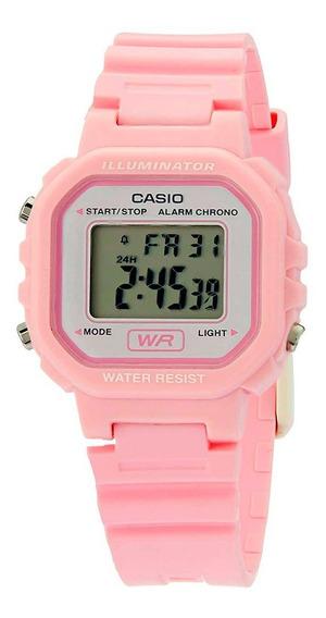 Relógio Casio Standard Digital Rosa La-20wh-4a1df