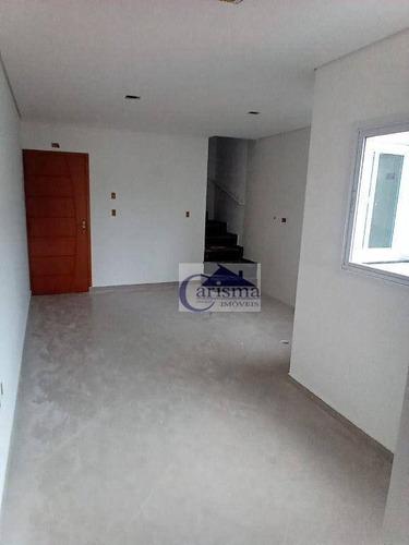 Imagem 1 de 16 de Cobertura Com 2 Dormitórios, Sendo 1 Suíte, À Venda, 52 M² Por R$ 400.000 - Parque Das Nações - Santo André/sp - Co0211