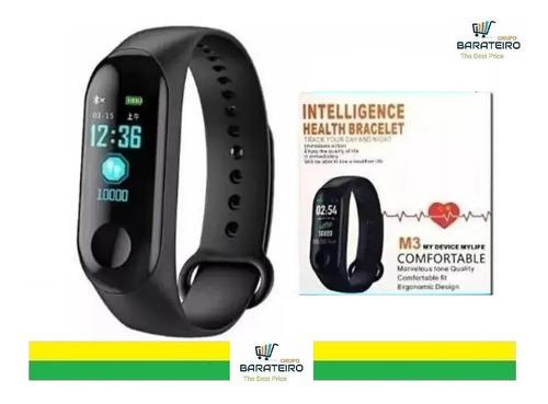 Relógio Smartwatch Inteligente Monitor Cardíaco E Pressão M3