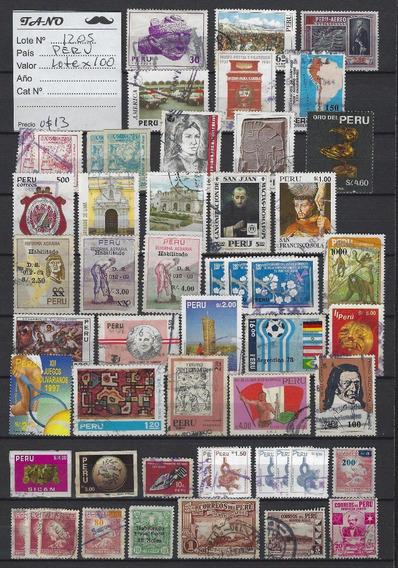 Lote1205 Perú Lote De 100 Estampillas Antiguas L 2