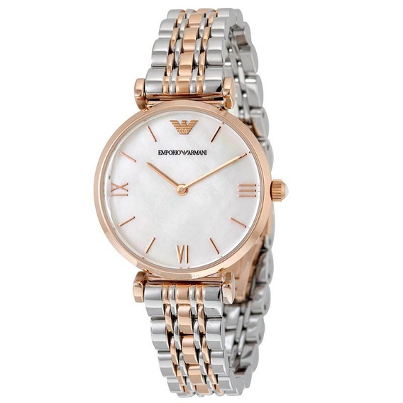 Reloj Análogo Marca Armani Modelo: Ar1683 Color Oro Rosa / P