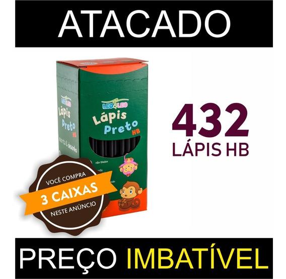 Kit 3 Cx Lápis De Escrever Preto Leo & Leo - Atacado C/ 144