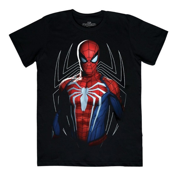 Playera Mascara De Latex Advanced Spider-man
