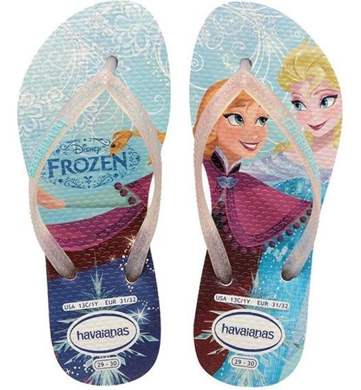 Sandália Havaianas Princesas Frozen Disney