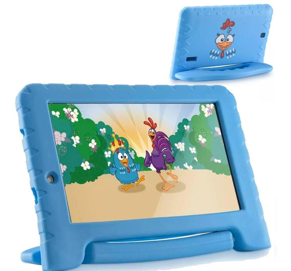Tablet Infantil Galinha Pintadinha 8gb Wifi Azul Multilaser