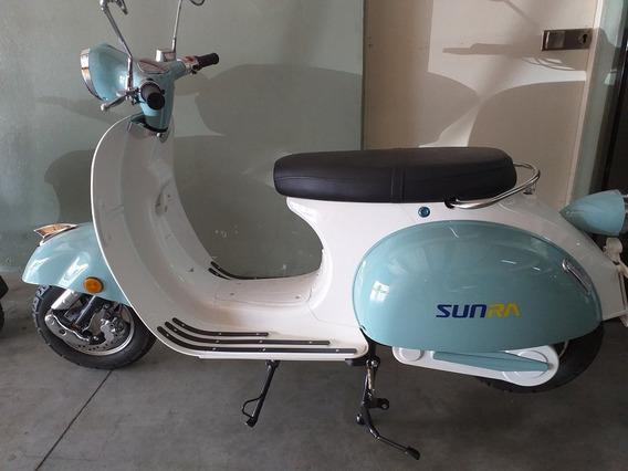 Scooter Electrico Sunra Vespa Batería Litio 20 Ah Siambreta