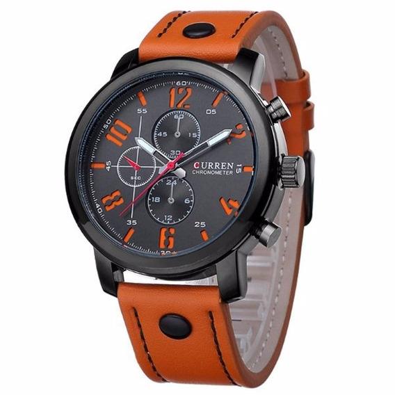 Relógio Masculino Esportivo Curren Pulseira De Couro 8192