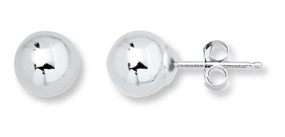 Brinco Bola 8mm Em Prata 925