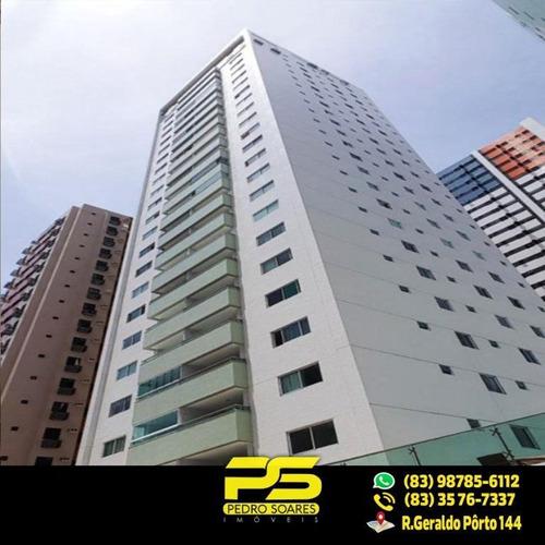 (oportunidade) Apartamento Em Tambaú  Com 132,10m²  Com 3 Quartos Sendo 2 Suítes - Ap1987