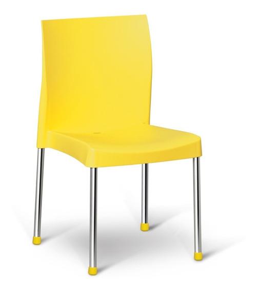 Cadeira Resistente Varanda Churrasco Cozinha Amarela Pracasa