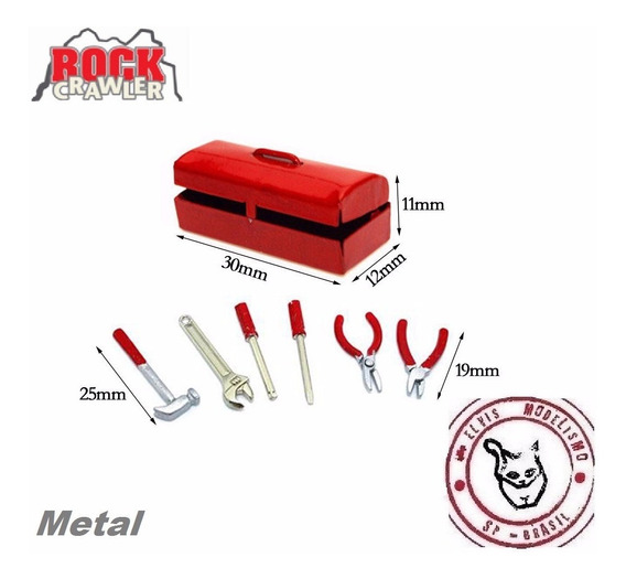 Acessórios Mini Caixa Ferramentas Metal B 1/10 P/ Rc Crawler