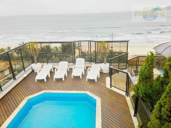 Cobertura Cinematográfica, Frente Total Ao Mar Do Tombo, 4 Garagens, Piscina E Churrasqueira Privativa, Lazer Espetacular!!! - Co0122