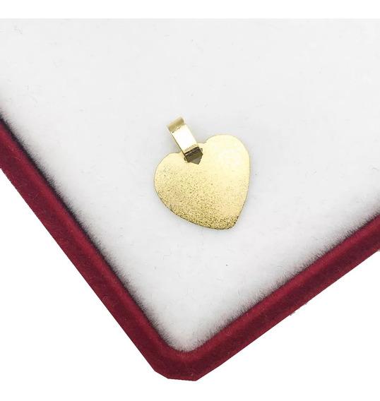 Dije Medalla Corazon Oro 18 K 0.3 Grs Mc0156 Novia Mujer