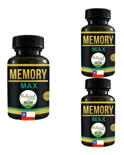 Pastillas Concentración Memoria Para 3 Meses Memory Max