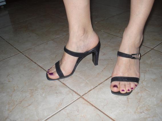 Sandalias Negras Usadas Nº 36.
