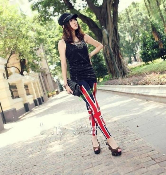 Leggings Uk Usa Flag - Calza Bandera Uk