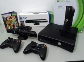 Xbox 360 Original 250gb + 2 Controles + Kinect + Jogos