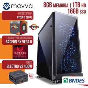Pc Computador Gamer Amd Ryzen 8gb Ddr4 16gb Linux Fonte