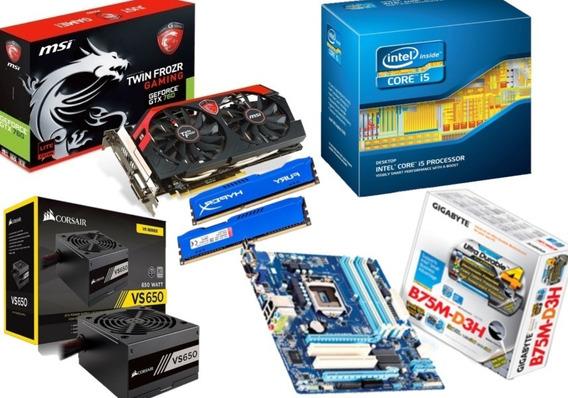 Computador Gamer - Gtx 760 256 Bit- I5 3570- 8 Gb Ram - 650w