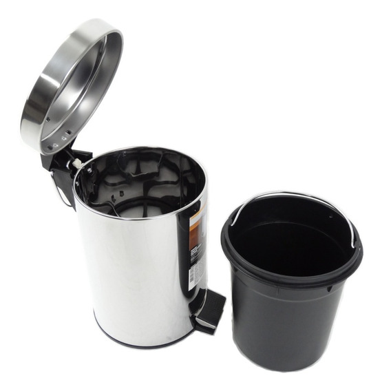 Cesto De Lixo Em Inox 5l Lixeira Com Pedal Alça Barato