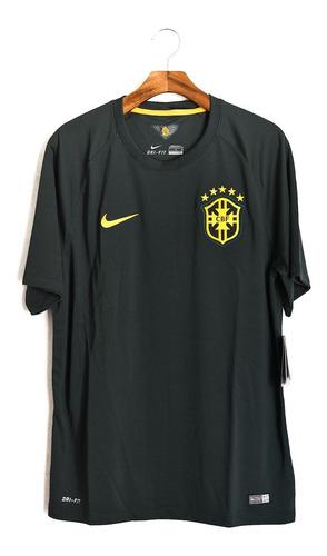 Camisa De Futebol Seleção Brasileira 2014 Nike Black Green