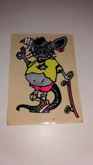 Adesivo Anos 80 Rato Skate Adesivo Anos 80 Mede 14x19,5 Cm