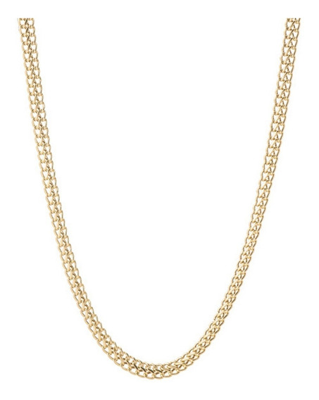 Corrente Gargantilha Lacraia 45cm Ouro 18k