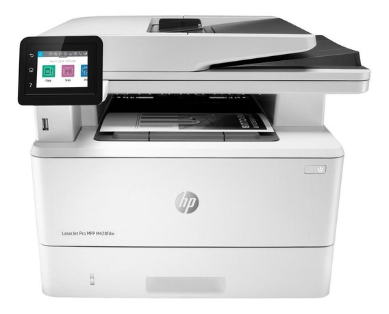 Impressora multifuncional HP LaserJet Pro M428FDW com Wi-Fi 110V branca