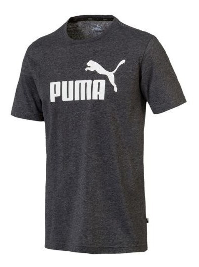 Remera Puma Essentials Heather Gris De Hombres- Woker