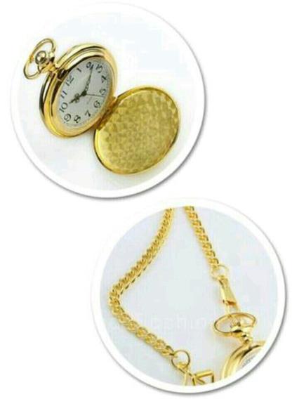 Relógio Bolso Quarts 2017 Gold