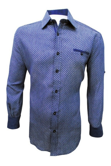 Camisa Casual Manga Larga Caballero Azul English Laundry