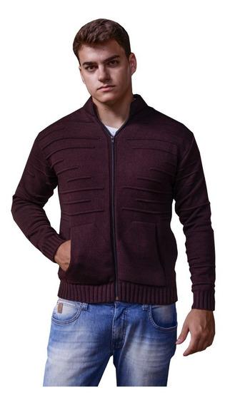 Suéter Blusão Masculino Tricô Inverno Manga Longa De Frio