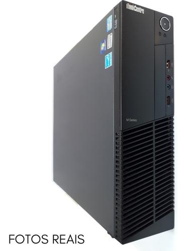 Computador Pc Completo Intel I5 8gb Ssd120 + Monitor + Wi-fi