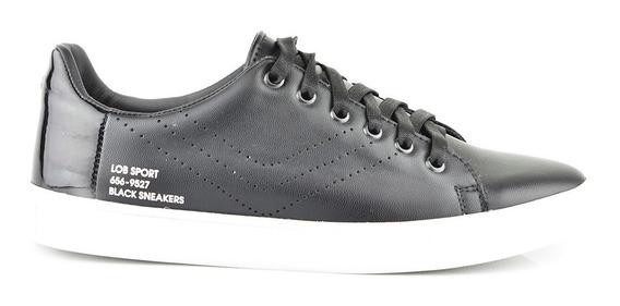 Tenis Urbanos Para Hombre Lob Footwear 656-9527 Negro Nuevo Oi19